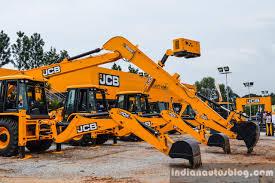 jcb 3dx js205lr excavators at excon 2015 indian autos blog