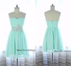 6 grade graduation dresses 2017 mint green mini chiffon homecoming gowns sweetheart