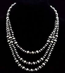 pearls necklace ebay images Native american navajo indian jewelry ss 3 strand navajo pearls jpg