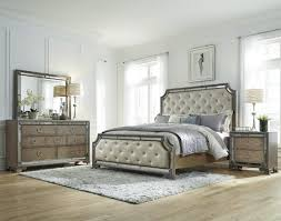 queen tufted 5pc mirrored bedroom furniture sets with 7 drawer