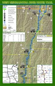 Starved Rock State Park Trail Map by West Nishnabotna River Water Trail Map Paddling Info