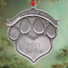 custom pet ornaments collars personalized tree