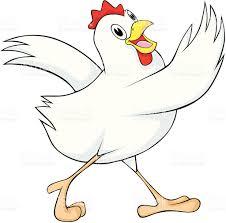 dancing chicken hen stock vector art 92730836 istock