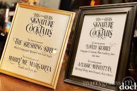 wedding drink menu template wedding cocktail sign custom signature enchanting style