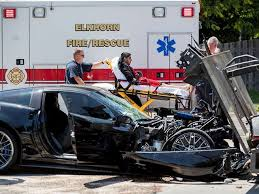 corvette car crash crashes times in 132 mph