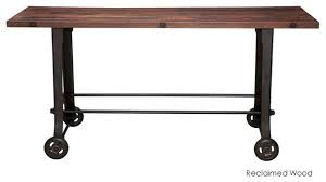 bar height table industrial amazing bar bistro table v reclaimed wood top indoor pub