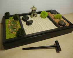 Mini Zen Rock Garden Mini Zen Garden Etsy