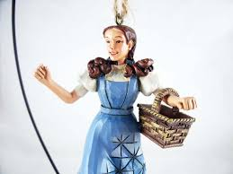 dorothy with basket hanging resin ornament wizard of