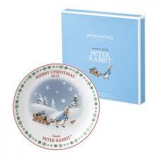 wedgwood rabbit rabbit christmas plate 2017 wedgwood uk