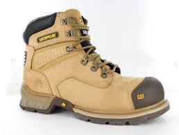 s steel cap boots australia cat boots brakeman hi zip steel cap safety boots honey koolstuff