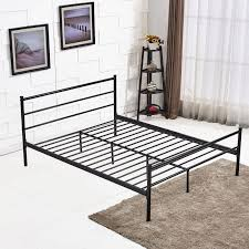 metal bed frame with headboard and footboard queen size vecelo