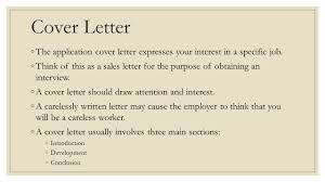 cover letter not for a specific job applying for employment ppt video online download