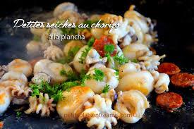 cuisiner les seiches petites seiches au chorizo à la plancha petits plats entre amis