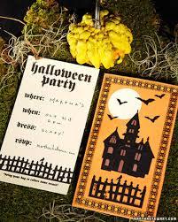 clip art and templates for halloween invitations martha stewart