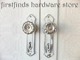 Shabby Chic Hardware by Shabby Chic Cabinet Door Pulls Silver White Pantry Handle Hardware