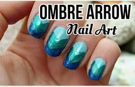 ombre arrow nail art no tools needed beauty pinterest