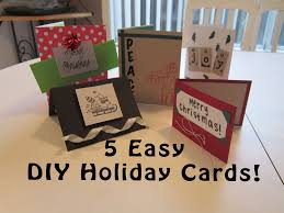 5 easy diy homemade holiday cards last minute holiday gift idea