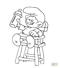 smurf coloring pages baby smurf coloring page free printable coloring pages