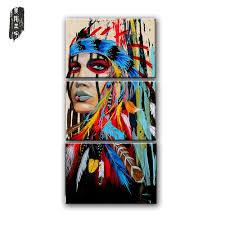 online get cheap native indian painting aliexpress com alibaba canvas painting native american indian girl feathered modern room wall art posters prints canvas posters and prints home decor