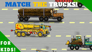 match the trucks dump truck garbage truck more l for kids