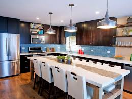 Kitchen Backsplash Ideas For Dark Cabinets Painting Kitchen Backsplashes Pictures U0026 Ideas From Hgtv Hgtv