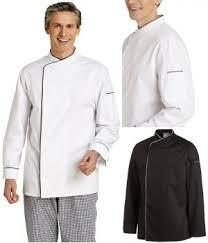 veste cuisine couleur de cuisine manches longues passepoil de couleur contrastée au col