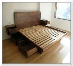 platform queen bed with storage bedroom furniture