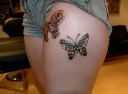 31 best butterfly thigh tattoos images on butterfly