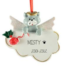 grey cat memorial ornament personalized ornaments for you