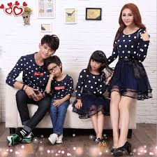 2017 fashion autumn family clothing set tendrils dress clothes for
