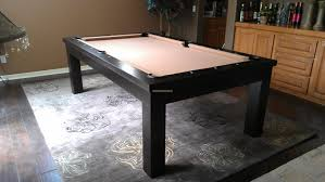 pool dining tables with exotic black and calm pink design for