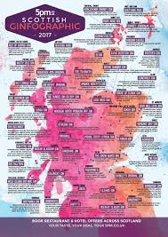 new 5pm gin map of scotland 2017 5pm co uk