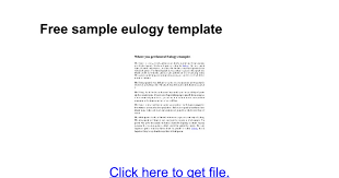 funeral program sles free sle eulogy template docs