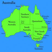 map of australia political political map of australia with capitals major tourist