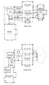 single story house plans with bonus room cool house plan w detail