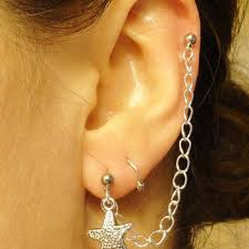 earring with chain to cartilage best starfish cartilage earring products on wanelo