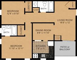 2 bedroom floorplans two bedroom floorplans