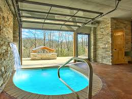 romantic modern cabin with indoor pool spa vrbo