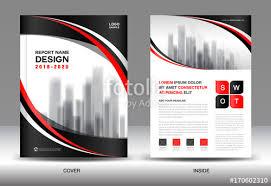 annual report brochure flyer template black cover design