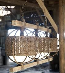 Wooden Chandelier Lighting Rustic Rectangular Metal And Wood Chandelier Antique Farmhouse