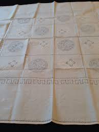 Light Pink Table Cloth Vintage Small Set 6 Light Pink Linen Tablecloth Napkins Cutwork