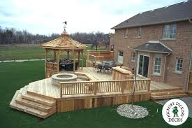 outside deck designs outdoor deck designs wood tub deck
