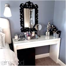 Acrylic Vanity Table Womens Dressing Table Vanity Attractive White Oval Mirror And