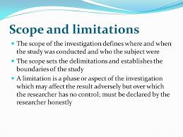 Delimitation in a doctoral dissertation proposal