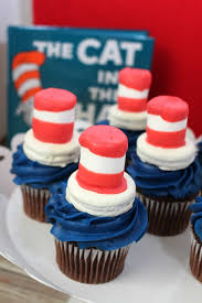 dr seuss cupcakes dr seuss cat in the hat cupcakes