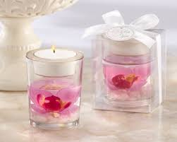 wedding favor candles orchid tealight holder