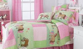 girls pink and green bedding bedroom smooth girls horse bedding for unique animals themes