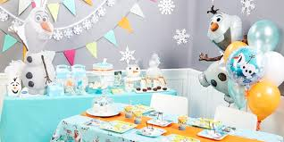 themed ls olaf themed party ideas busy