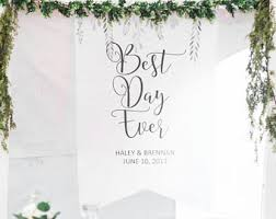 wedding backdrop name backdrop name etsy