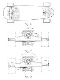 patent us6367819 shock absorbing skateboard truck assembly